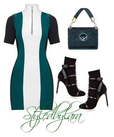 """""""Alien"""" by lahraog on Polyvore featuring Valentino and Fendi"""
