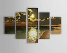 Online Shop 2015 Handmade Wall Art All Loved Sea Scape Beauty Sun Set Scenery Wall Pictures For Living Room Oil Painting Home Decoration Contemporary Wall Decor, Modern Wall Art, Large Wall Art, Landscape Walls, Landscape Paintings, Abstract Landscape, Panel Wall Art, Canvas Wall Art, Painting Canvas