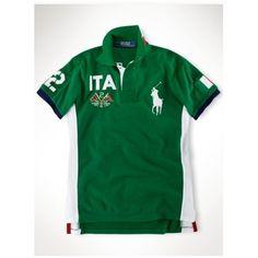 Ralph Lauren ITA Signature Big Pony Green Sporty Polo http://www.ralph-laurenoutlet.com/