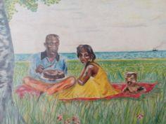 snídaně v trávě, progreso A4, Painting, Painting Art, Paintings, Paint, Draw