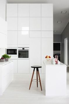 New kitchen ideas vintage modern interior design 64 Ideas High Gloss White Kitchen, White Kitchen Interior, Interior Design Kitchen, Interior Decorating, Neutral Kitchen, Glossy Kitchen, Decorating Ideas, Decorating Websites, Interior Ideas