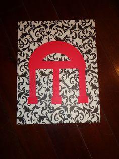 UGA arch art;  DIY, scrapbook paper