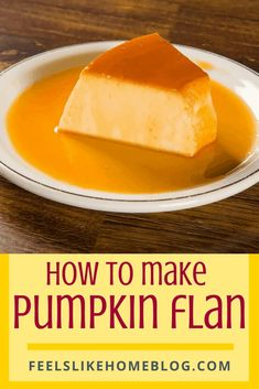 How to Make The Best Simple and Easy Homemade Pumpkin Flan Recipe - This amazing dessert is similar to crème brulée, a thick rich custard with melted sugary caramel syrup. #dessertrecipes #dessert #sweettooth Roast Pumpkin, Canned Pumpkin, Pumpkin Spice, Fun Desserts, Dessert Recipes, Dinner Recipes, Pumpkin Custard, How To Make Pumpkin, Allergy Free Recipes