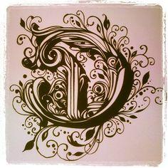 Reyes Black Letter Type Set series. 'D' - @bert2332 | Webstagram