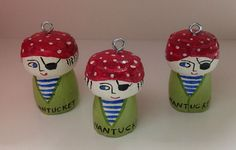 Nantucket Mermaid pirates from champagne corks :)