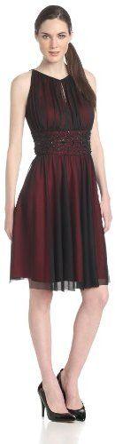 Jessica Howard Women's Sleeveless Keyhole Neck Dress with Beaded Waist on shopstyle.com