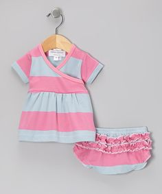 Take a look at this Pink Garden Tent Organic Dress & Diaper Cover - Infant by Sweet Peanut on #zulily today!