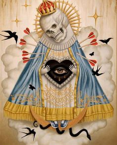 Sad Surreal Paintings | alex garcia art pop surrealism visual art death nino muerte lowbrow ...