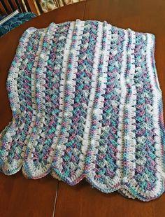 Crochet Afghans Easy Mile a Minute Blanket [Free Crochet Pattern] Baby Afghan Patterns, Crochet Baby Blanket Free Pattern, Crochet For Beginners Blanket, Baby Afghan Crochet, Crochet Stitches, Crochet Edgings, Baby Afghans, Crochet Blankets, Knitting Patterns