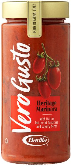 Heritage Marinara | Vero Gusto Cacciatore Recipes, Chicken Cacciatore, Vegetable Ratatouille, Vegetable Pasta, Gluten Free Pasta Sauce, Pasta Sauce Ingredients, Spicy Steak, Steak Wraps, No Boil Lasagna