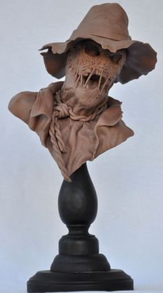 Scarecrow Bust: Monster Clay by AntWatkins.deviantart.com on @deviantART