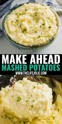 Mashed Potatoes Recipe With Cream, Thanksgiving Mashed Potatoes Recipe, Make Ahead Mashed Potatoes, Cream Cheese Potatoes, Homemade Mashed Potatoes, Easy Potato Recipes, Mashed Potato Recipes, Side Dish Recipes, Side Dishes