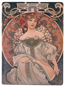 Alfons Mucha. Reverie, 1897 - Art Nouveau