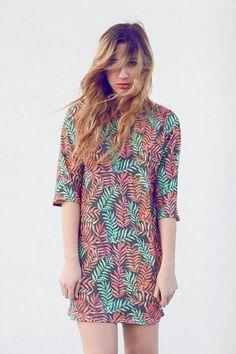 Leafy Print Dress van leahgoren op Etsy, $180.00
