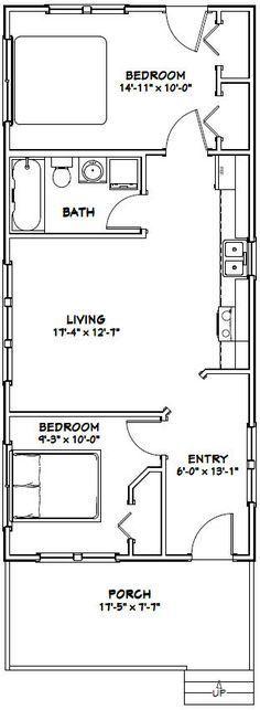 18x40 Tiny House -- #18X40H2K -- 720 sq ft - Excellent Floor Plans