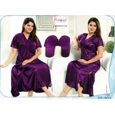 Fashionable Two Part Nighty-4872 A Night Dress Online, Bridesmaid Dresses, Wedding Dresses, Salwar Kameez, Nightwear, Saree, Sexy, Womens Fashion, How To Wear