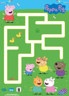 Your little one can help Peppa reach her friends at the end of this grassy maze! Your little one can help Peppa reach her friends at the end of this grassy maze! Pippa Pig, Peppa Pig Printables, Mazes For Kids, Pig Crafts, George Pig, Pig Birthday, Pig Party, Preschool Learning Activities, Friends