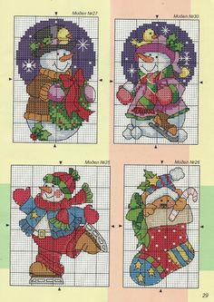 ru / Фото # 15 - 365 CrossStitch designs vol 4 2015 - Chispitas - BABY Punto de cruz 4 - Ornaments Cross Stitch Christmas Cards, Xmas Cross Stitch, Cross Stitch Needles, Cross Stitch Cards, Cross Stitching, Cross Stitch Embroidery, Cross Stitch Designs, Cross Stitch Patterns, Loom Patterns