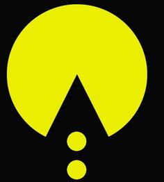 Image result for pac man negative space