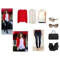 Chompa de hilo, blusa de gasa, jeans pitillos, bolso, botines y lentes de sol