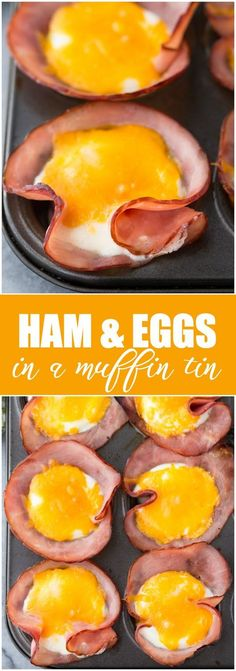 Ham & Eggs in a Muffin Tin - A quick and easy breakfast for a low carb lifestyle! (Mini Muffin For Kids)