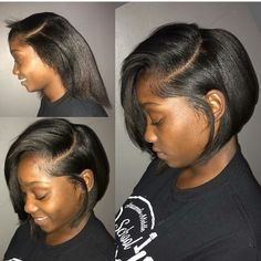 Check out ❤️ Short Bob Hairstyles, Girl Hairstyles, Haircuts, Pressed Natural Hair, Curly Hair Styles, Natural Hair Styles, Hair Laid, My Hairstyle, Relaxed Hair