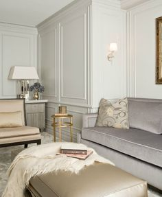 Muted tones, ultimate sophistication. Grey, gold, white, black...my favorite colors if they even are a color.