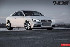 audi S5 on silver polished