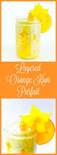 Layered Orange Kiwi Parfait