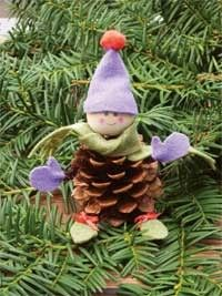 We'll be making these tomorrow! How to Make a Pine Cone Elf - Lakeridge Kids.
