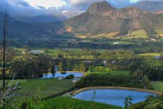 The Franschoek valley from the top of the Franschoek Pass, South Africa. Places To Travel, Places To See, Namibia, Out Of Africa, Live, Beautiful Landscapes, South Africa, Beautiful Places, Scenery