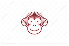 Logo for sale: Monkey Head logo; Mono-line Monkey head design, a mark of joy & happiness; Monkey logo; Fun Happiness Joy Animal Kid apparel Accessories Social media; Buy Purchase Sell on sale Sold Product Business Brand Design Graphic Unique logo Recognized Professional Software Apps App Applications Application Established Stability B2B; Simple Modern Creative Clever Pre-Designed logo logos
