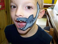 shark face painting