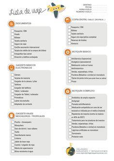 Lista de indispensables para viajar