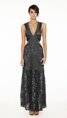 Long Cool Cocktail - Maxi Dress - Black