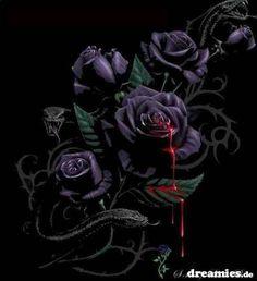 Dieses Bild wurde verkleinert. Klick hier, um es im Original anzuzeigen. Gothic Wallpaper, Rose Wallpaper, Wallpaper Backgrounds, Wallpapers, Skull Tattoo Flowers, Skull Rose Tattoos, Black Rose Flower, Black Flowers, Black Roses