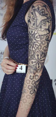 Beautiful Black Sleeve Tattoo Design http://tattooideas22.com/beautiful-black-sleeve-tattoo-design/