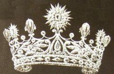 Queen Emma's Diamond Parure made by Van Kempen, 1897, included a Tiara, necklace and a corsage.