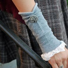 Upcycled Wrist Warmers