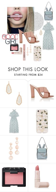 """The good girl"" by emma-leeman ❤ liked on Polyvore featuring Kendra Scott, Gianvito Rossi, Temperley London, Sonix, Rebecca Minkoff, Chloé, NARS Cosmetics, Lipstick Queen and L'Oréal Paris"