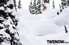 Curtis Ciszek isn't scared to get tits deep in anything PHOTO: Nick Hamilton  |  TransWorld SNOWboarding