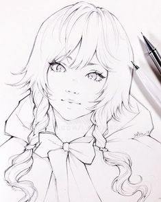 Art by ladowska chica manga, manga drawing, manga art, anime sketch, cute d Anime Drawings Sketches, Anime Sketch, Manga Drawing, Manga Art, Fan Art Pokemon, Wie Zeichnet Man Manga, Anime Kunst, Pencil Art, Line Art