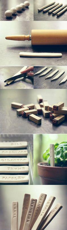 Kräuter-Stecker gesehen auf www.projectpartystudio.com