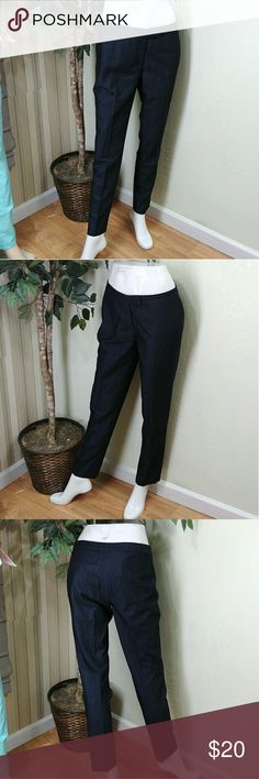 "Anne Klein Women Slim Leg Ankle Pants Anne Klein Women's Slim Leg Ankle Pant Simple and stylish,  perfect for practically any occasion, size 4-petite, color dark grey, belt loops and shallow rear pockets, rear shallow welted pockets, zip and double front clasp closure, unlined, slim leg and ankle fit, inseam measures 28"", waist 15.5"" 7.5 front rise, 19"" hips and 6"" leg opening compare $59.99 retail price value, comes new without tag in good cosmetic condition. Anne Klein Pants Skinny"