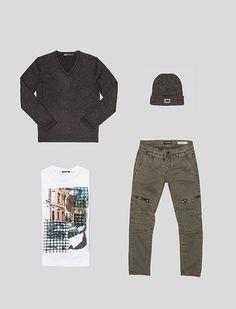 Sapato Masculino Cinza com Costura Contrastante Queima de