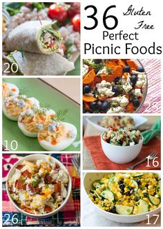 36 Gluten Free Picnic Foods - for all of your backyard barbecues, lunch at the park, or summer potluck parties! | https://cupcakesandkalechips.com