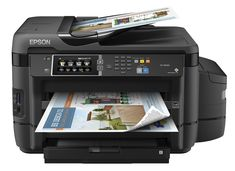 """Epson ET-16500 EcoTank Wireless Wide format Color All-in-One Supertank Printer, Scanner, Fax & Ethernet. Cartridge-free printing - comes with up to 2 years of ink in the box (1). Includes enough ink to print up to 10,500 pages black/11,000 color (2) - equivalent to about 50 ink cartridge sets (3). Save up to 80 percent on ink with low-cost replacement bottles (4) - plus easy-to-fill, supersized ink tanks. Wide-format prints and scans - print up to 13"""" x 19""""; copy and scan up to 11"""" x 17""""...."""