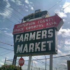 Farmer's Market - Birmingham @amy_welborn- #webstagram History Pics, Vintage Neon Signs, Like Fine Wine, Paw Paw, Magic City, Birmingham Alabama, Living In La, Sweet Home Alabama, Old Signs