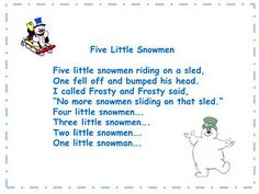 Rockin' with The Five Little Snowmen song and song chart