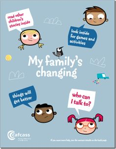 free workbook for kids dealing with changing families